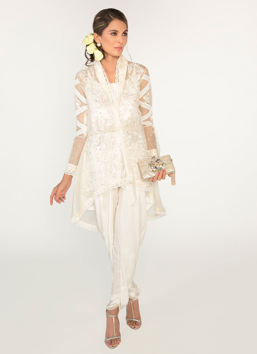 Picture of Ivory embroidered wrap