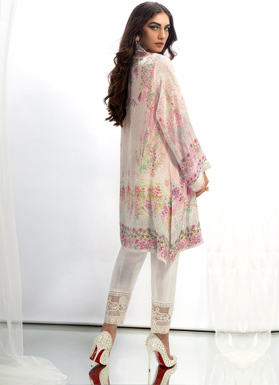 Picture of Ikat crepe silk tunic